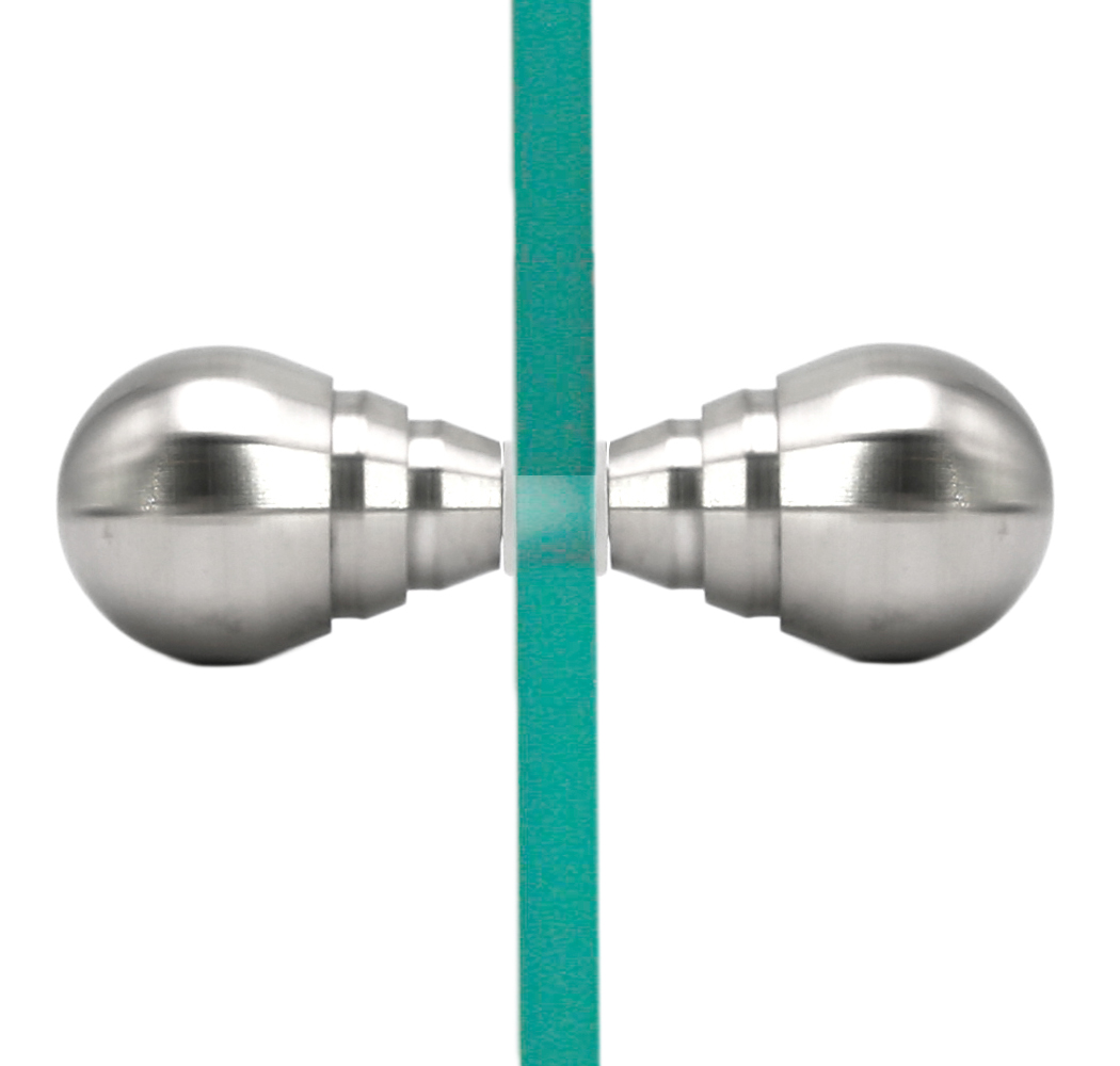 Stainless Steel Solid Material Back-to-Back Glass Shower Door Knob ...