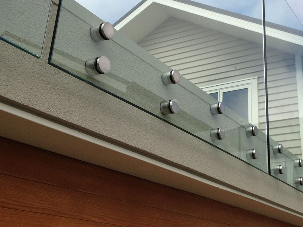 Top Hardware Mount Glass Railing Standoff Base and Cap