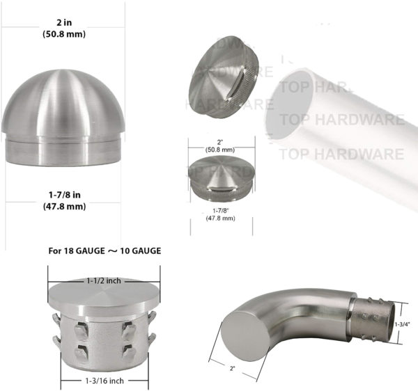 Top Hardware End Cap Designed To Insert Into The End Of S